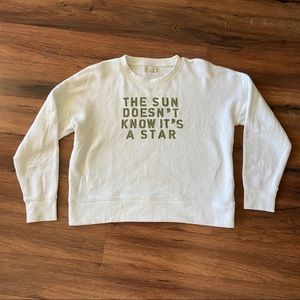 Mile(s) by Madewell Terry Lined Sweatshirt Sz Med